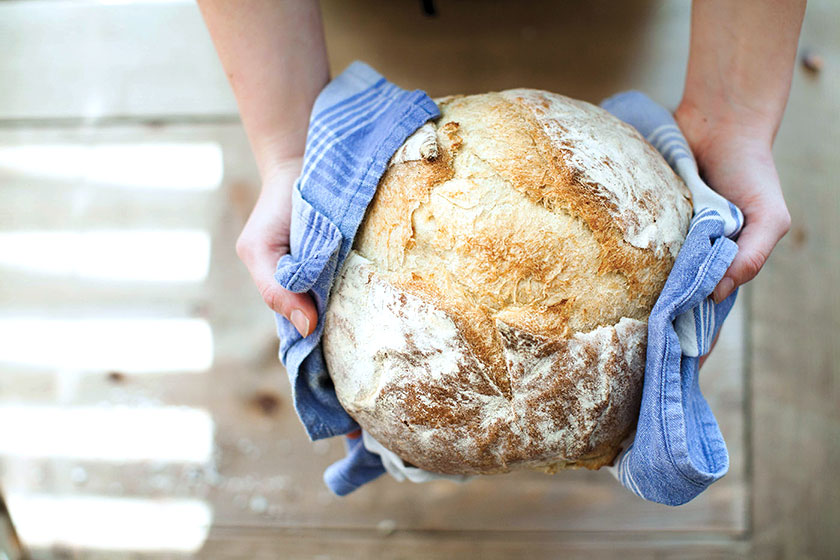 Pão com fermento natural