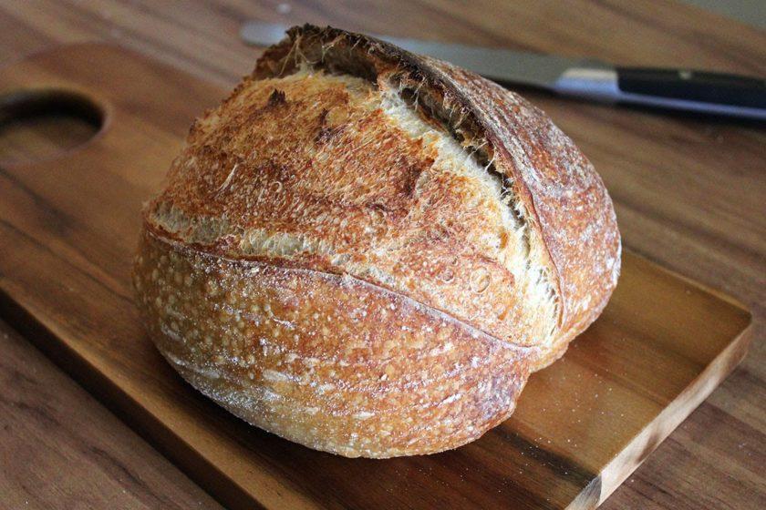 Um pão feito com fermento natural
