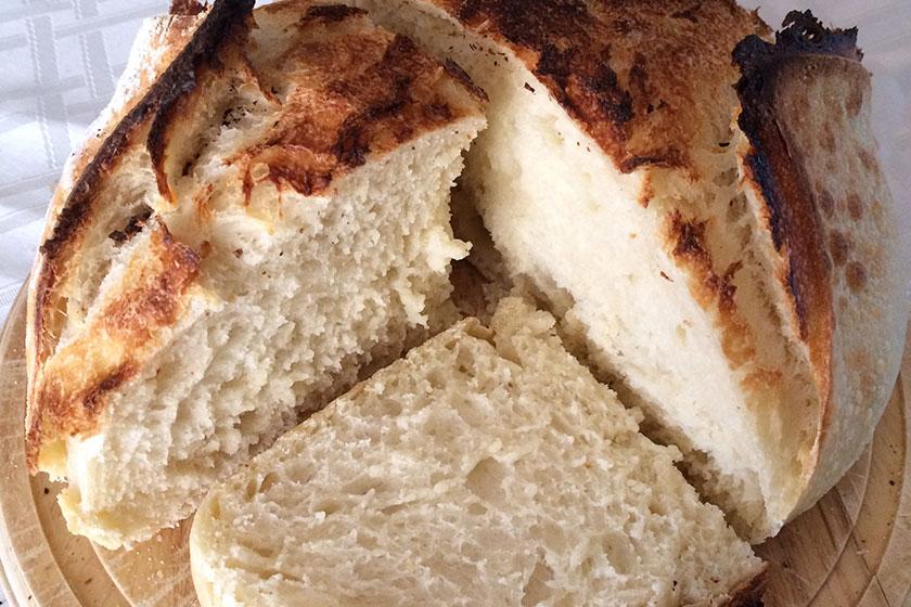 Pão com fermentação natural