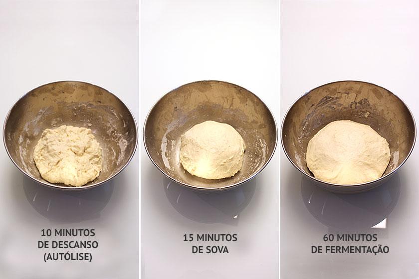 Primeira fermentação da massa do pão