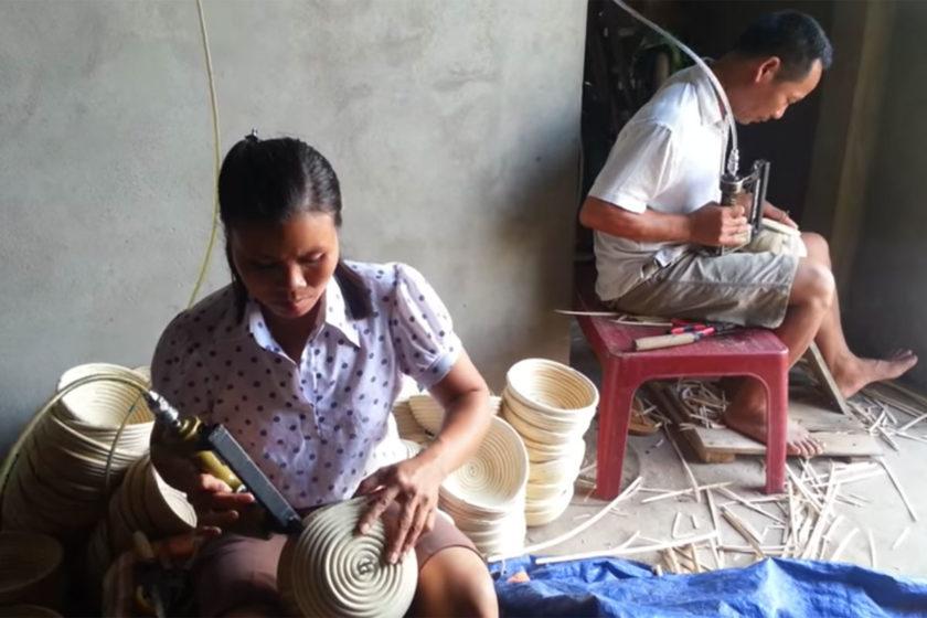 Produção de bannetons no Vietnã