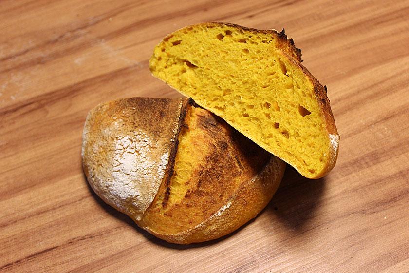 Foto de um pão abóbora