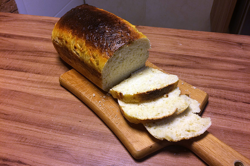 Pão Petrópolis cortado em fatias