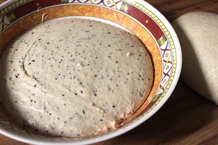 Pão Multigrãos - Primeira fermentação