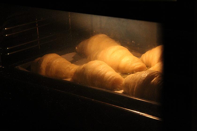 Receita de Croissant: Dentro do forno