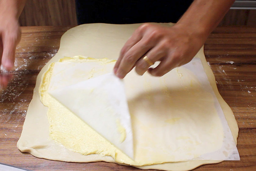 Receita de Croissant: Dobras para a massa folhada