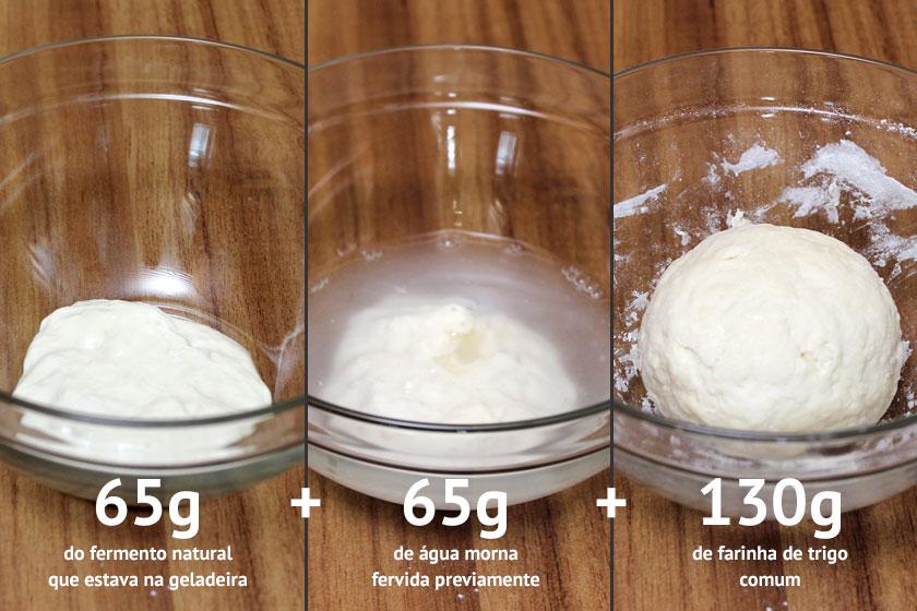 Refrescar o fermento - Proporção para o fermento mais sólido