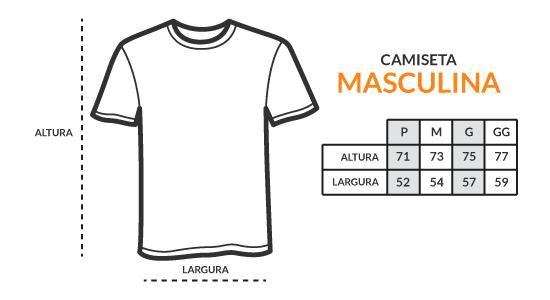 Tabela de Medidas - Camiseta Masculina