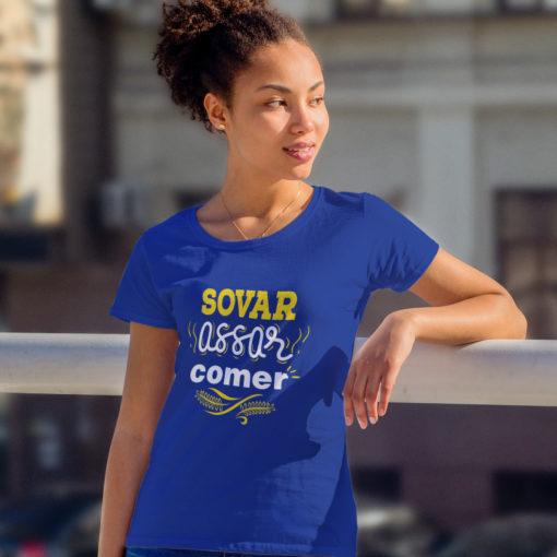 Camiseta Sovar, Assar e Comer (Feminina)