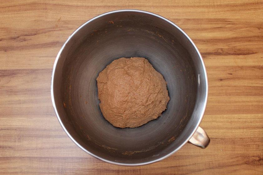 Pão Australiano: massa antes de sovar
