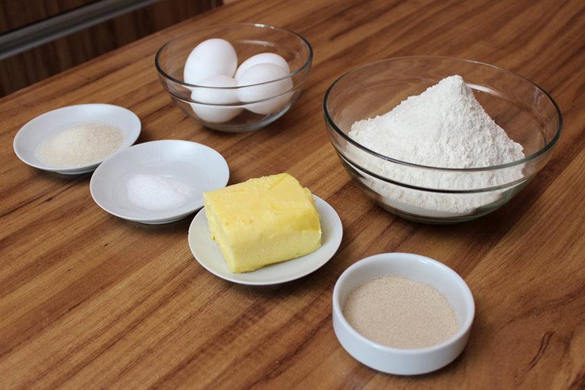 Receita de Brioche - Ingredientes