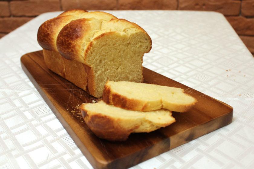 Receita de Brioche - Pão cortado