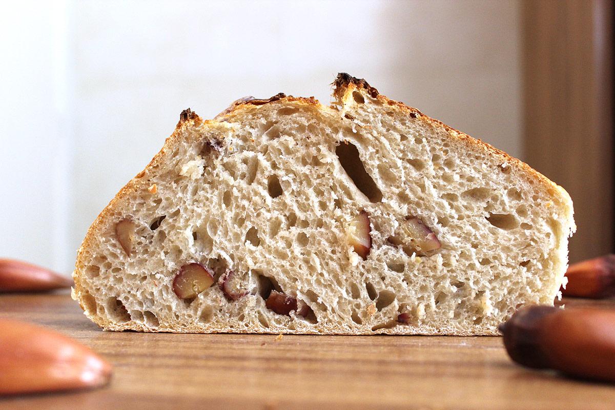Receita de Pão de Pinhão: Miolo