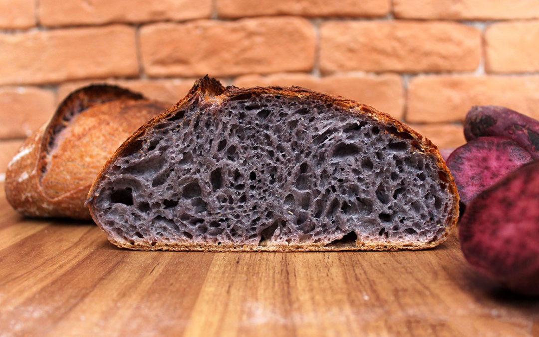 Pão de Batata-Doce Roxa