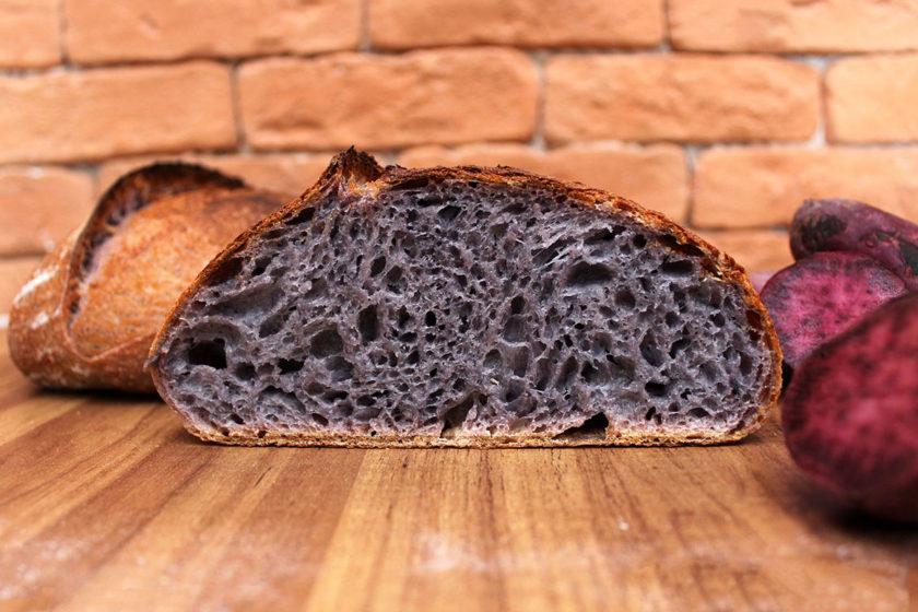 Pão de Batata-Doce Roxa - Cortado (Foto 2)
