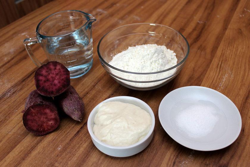 Pão de Batata-Doce Roxa - Ingredientes